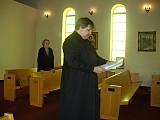Sub-Deacon Michael Boyar reads the Epistle